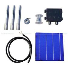 400W DIY Solar Panel Kit 108pcs 6x6 Solar Cells w/Tab Bus Flux Pen J-Box 4.3W/pc