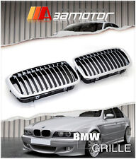 CHROME FRONT HOOD KIDNEY GRILLES for 1995-2001 BMW E38 7-SERIES 740i 740iL 750iL