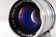 EXCELLENT++ Nippon Kogaku Nikkor S.C 5cm 50mm F1.4 Leica from japan #350