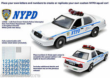 2001 FORD CROWN VICTORIA NYPD INTERCEPTOR LIGHTS & SOUNDS 1/18 GREENLIGHT 12920