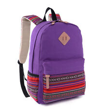 Women Backpack Rucksack Canvas Travel Satchel Laptop Bookbag School Shoulder Bag