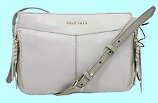 COLE HAAN FELICITY in Paloma (Grey) Leather Cross-Body Bag Msrp $188.00