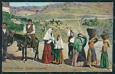 Palermo Costumi Siciliani cartolina QQ0818