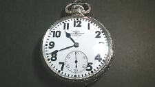 Ball Railroad Cleveland 23 Jewel, 16S Pocket Watch, 14K white gold-filled, runs