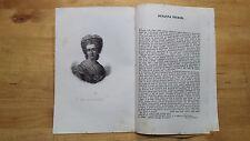 1835 Ritratto con Estratto: Suzanne Curchod Necker (Crassier) Filantropa