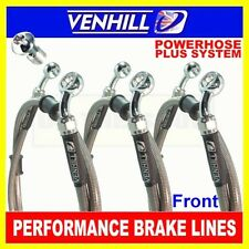 KAWASAKI VN1500 P MEANSTREAK 2002 VENHILL s/steel braided brake lines front CL