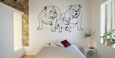 Wall Room Decor Art Vinyl Sticker Mural Decal Dog Animal English Bulldog FI131