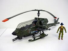 G.I. JOE DRAGONFLY Vintage Vehicle Helicopter COMPLETE w/WILD BILL & WORKS 1983