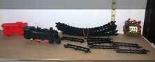 Child's Toy Plastic Train Set With Tracks and 1 Separate Wooded Christmas Car