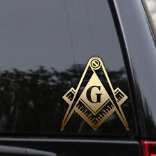 Masonic Freemason Compass Square Illuminati Mason Window Decal Sticker Car Truck