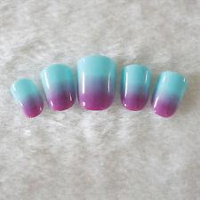 24pcs Shiny Artificial Nail Art Tips Toenails Acrylic UV Gel French False Nails