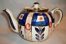 Antique SUDLOW'S Burslem Tea Pot Teapot Gaudy Welsh Imari Made In England