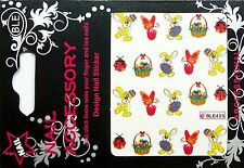 Ostern Water Nail Sticker Tatoo gespiegelt Easter Nr. 5
