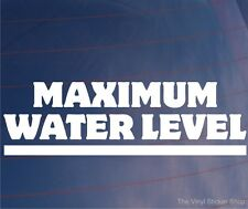 MAXIMUM WATER LEVEL Funny Joke Off-Road 4x4/4WD Car/Bumper/Window Sticker