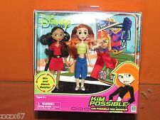 NEW KIM POSSIBLE AND MONIQUE MINI FASHION DOLLS CHEERLEADING OUTFIT