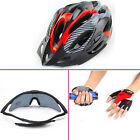 Cycling Sun glass Sunglass UV & Bike Helmet Carbon & Half Finger Gloves size XL