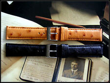 17mm Black Genuine Ostrich watch band Full Quill IW SUISSE 12-14-16-18-19-20-22