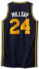 NEW ADIDAS UTAH JAZZ PAUL MILLSAP JERSEY L LG SWINGMAN REV 30 ATLANTA HAWKS BLUE