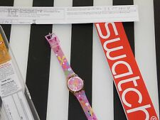 SWATCH ELECTROFLOR WATCH  - PINK FLORAL - NEW IN BOX