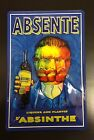 Absinthe Absente & Embossed Vintage Alcohol Wall Decor Pub Poster Metal Sign