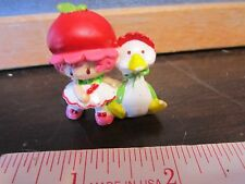 "Vintage Strawberry Shortcake PVC 2"" mini Cherry Cuddler Gooseberry Goose Figure"