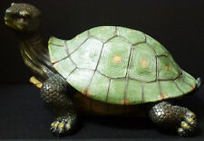 """SLOW and STEADY  Turtle statue figure H9.5"""" x L17"""""""