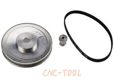 CNC Engraving Machine Accessory 3M Timing Pulley Belt Set Kit Reducer Ratio 8:1