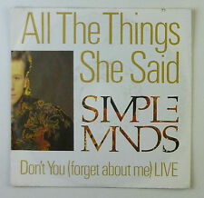"7"" Single - Simple Minds - All The Things She Said - S764 - washed & cleaned"