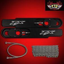 """2006 Ultimate ZX14 12"""" Swingarm Extension kit, EK ZVX3 Chrome Chain,Brake line"""