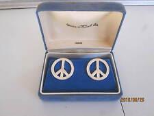 Vintage Peace Sign Cufflinks Meier & Frank Company Swank