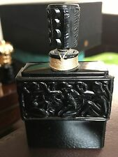 "LALIQUE VINTAGE HABANITA DE MOLINARD FACTICE BLACK GLASS BOTTLE 3.5"" TALL SEALED"