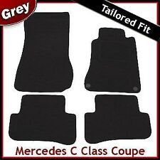 Mercedes C-Class Coupe CL203 2000-2011 Tailored Fitted Carpet Car Mats GREY