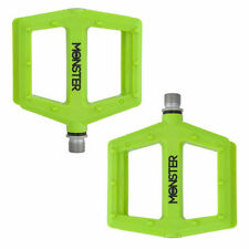 Redline Monster Bicycle Low Profile Nylon Platform Pedals 9/16 Sealed Lime Green