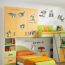 10 cats Chi's Sweet Home Wall Stickers For Kids Bedroom Home Decor Decal Mural