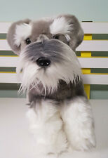 BOCCHETTA TOY PLUSH TOY DOG SCHNAUZER! GORGEOUS VERY LIFELIKE! 35CM TALL!