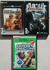 ARMA Armed Assault + Delta Force BLACK HAWK DOWN + Ghost Recon PC Spiele
