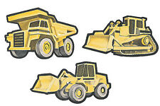 Trucks Big Dump Truck Bulldozers 25 Yellow Construction Wallies Stickers Decals