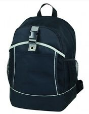 Poly Backpack School Traveling Equipment Sports Carry-on Bag Black One Size