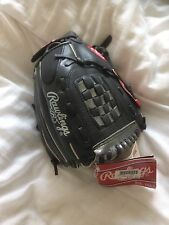 "Rawlings PL129fb en cuir gant de base-ball 11"" main droite boys youth black"