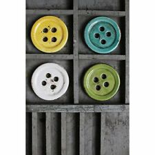 4.2 Inch Round Terra Cotta Button Coasters Set of 4, New, Free Shipping