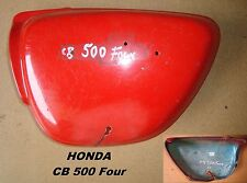 Honda CB 500 Four_Seitendeckel_links_side cover_used_in rot_Seiten - Deckel