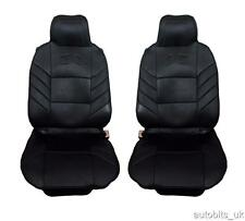 FRONT BLACK PADDED SEAT COVERS 1+1 FOR LAND RANGE ROVER FREELANDER DISCOVERY