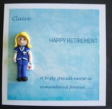 Retirement  card for nurse / midwife/health visitor by Hot Dough Creations