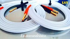 NEW 2 x 3m (A Pair) QED SILVER ANNIVERSARY-XT AUDIO SPEAKER CABLES Terminated