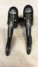 Campagnolo Titanium Record 10 speed carbon QS Ultra road bicycle shifters VGC