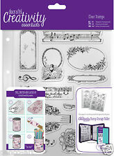 Docrafts Papermania MUSICALITY music A5 stamp set of 14 + storage folder pocket