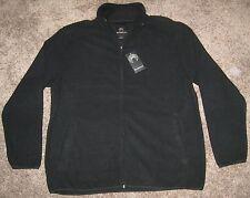 NEW WEATHERPROOF FULL Zip Fleece Jacket MENS XL BLACK $55.00 NWT TOP COAT