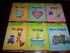 Leapfrog Tag Jr Junior 6 Book Set Lot Short Vowel Preschool Board Book Lot