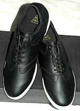 HUF Men's Dylan Perforated Leather Skate Shoes Black size 10.5