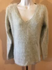 FURRY Angora Sweater! Banana Republic! Fuzzy Fluffy So Soft! Medium V-neck New